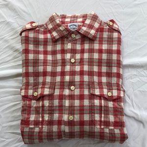Brooks Brothers Irish linen long sleeve shirt M